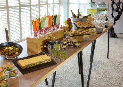 Exemple de buffet dinatoire pour soirées au rooftop grenelle à paris